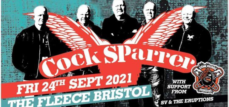 Cock Sparrer/Spunk Volcano & The Eruptions – Bristol, The Fleece – 24th September 2021